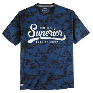 Redfield Camouflage T-Shirt Print blau-braun XXL