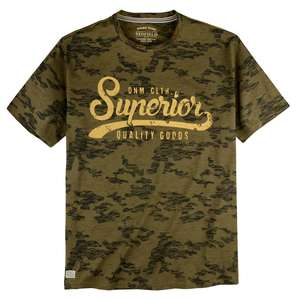 Redfield Camouflage T-Shirt Print oliv-anthrazit XXL