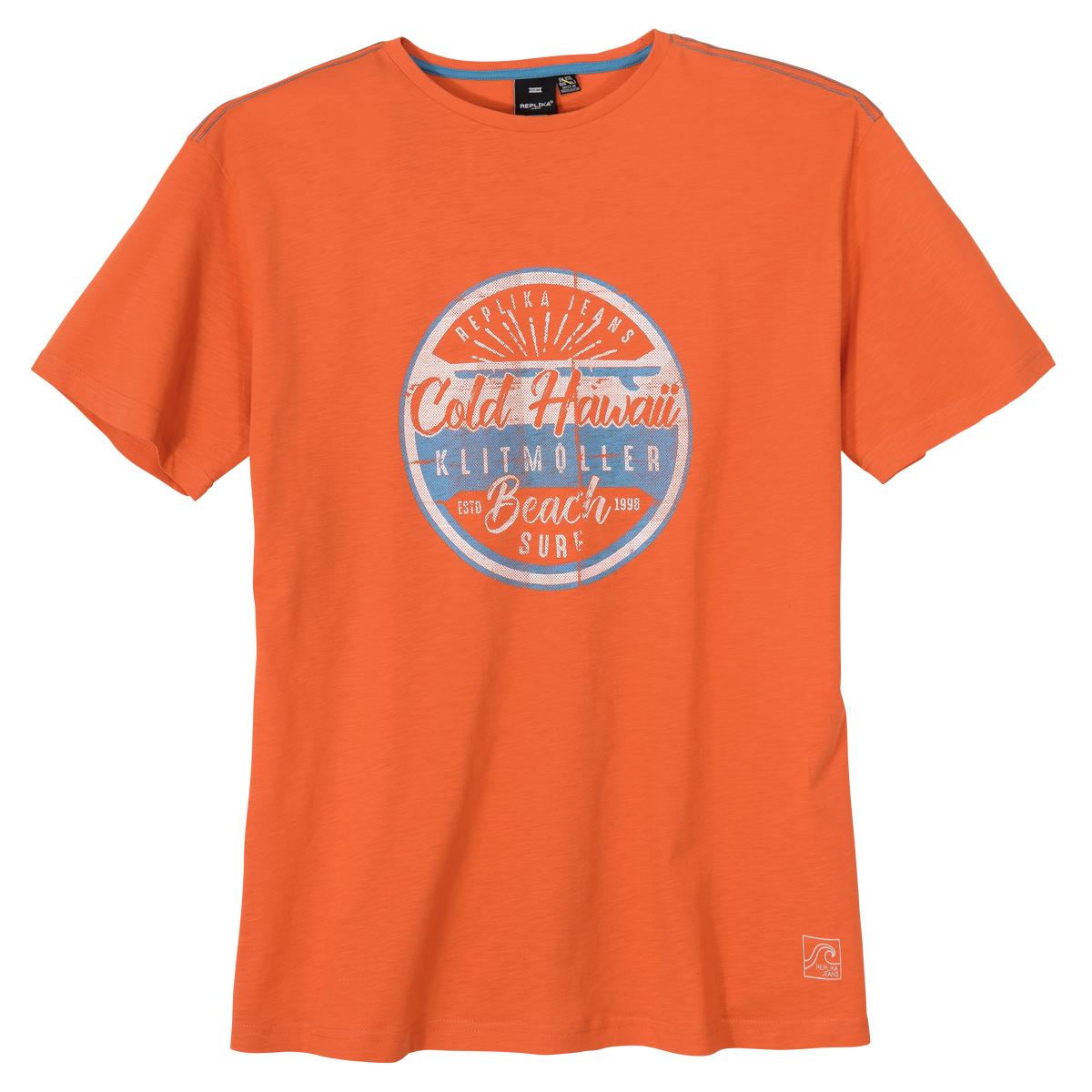best authentic 75424 47c2e Replika by Allsize modisches Druck T-Shirt orange