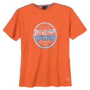 Replika by Allsize modisches Druck T-Shirt orange