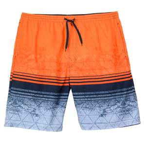 Badeshorts lang Bellonda orange-blau Colorblock XXL