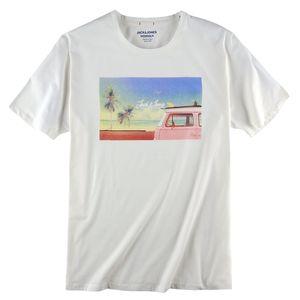 Jack & Jones T-Shirt offwhite Farbprint Übergröße