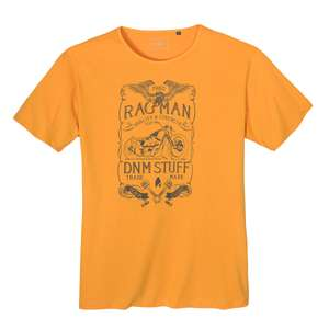 Ragman T-Shirt Vintage-Logoprint orange XXL