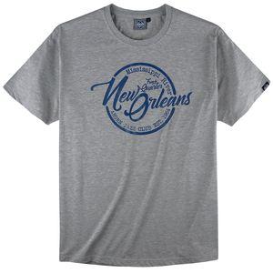 Ahorn Sportswear Druck T-Shirt hellgrau melange XXL