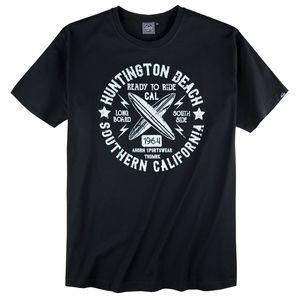 Ahorn Sportswear dunkelblaues T-Shirt Surfprint XXL