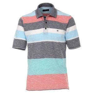 CasaModa gestreiftes Poloshirt blau-weiß-rot melange