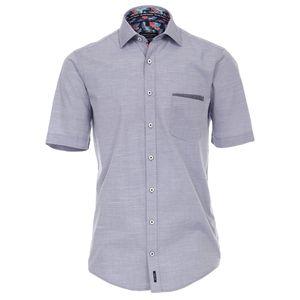 CasaModa Kurzarmhemd Streifenoptik blau-weiß XXL