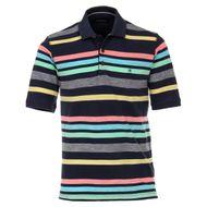 CasaModa Poloshirt Streifen navy-gelb-rosa XXL  001