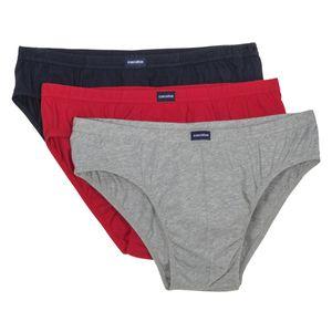 Sport-Slip 3er Pack rot/grau/navy Ceceba XXL