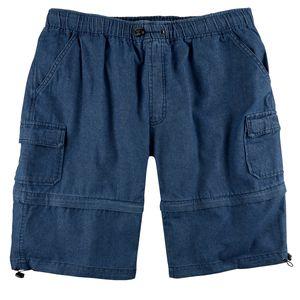 Brigg Zipp-off Jeans Shorts blau XXL