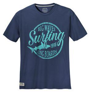 Redfield T-Shirt jeansblau Print Big Waves XXL