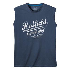 Redfield Logoprint Muskelshirt jeansblau XXL