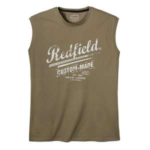 Redfield Logoprint Muskelshirt oliv XXL