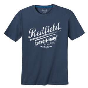 Redfield T-Shirt jeansblau Logoprint XXL