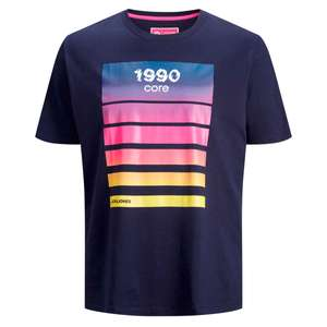 Core by Jack & Jones T-Shirt Print marineblau XXL