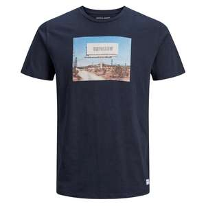 Jack & Jones T-Shirt navy Fotoprint XXL