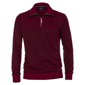 CasaModa Troyer-Sweatshirt rot melange große Größen