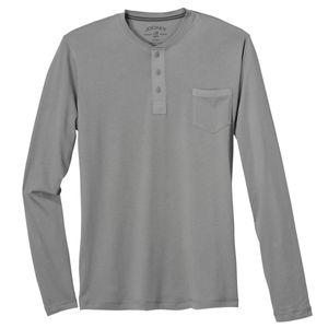 Jockey Knopfleisten Langarmshirt grau große Größen