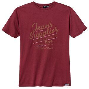 Replika by Allsize karminrotes T-Shirt Vintageprint