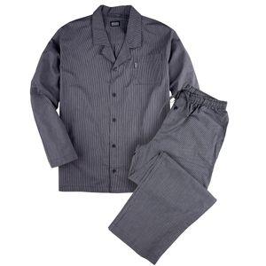 Jockey Pyjama navy-weiß gestreift große Größen