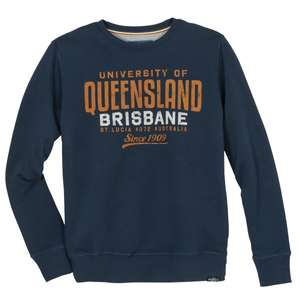 Redfield Sweatshirt blau Print Queensland Übergröße