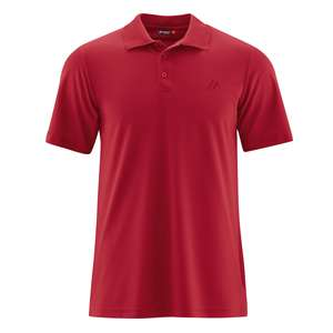 Maier Sports rotes Funktions-Poloshirt