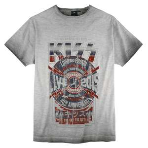 Replika by Allsize Kiss Vintage T-Shirt grau XXL