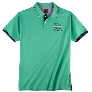 Kitaro maritimes modisches Poloshirt mint XXL