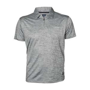 North by Allsize Funktions-Poloshirt grau melange XXL