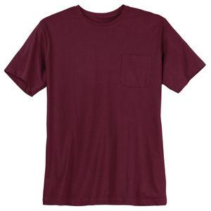 XXL Basic T-Shirt Jerry weinrot Brusttasche Redfield
