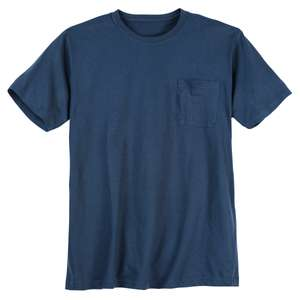 XXL Basic T-Shirt denimblau Brusttasche Redfield