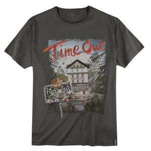 Kitaro T-Shirt Alpenprint anthrazit melange XXL
