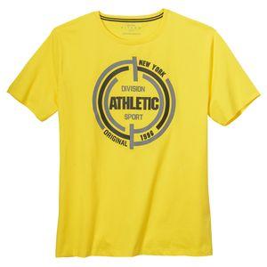 Kitaro T-Shirt sportiver Print gelb