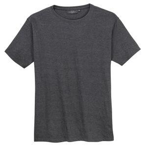Kitaro Basic T-Shirt anthrazit melange Übergröße