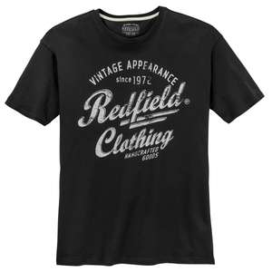 Redfield schwarzes T-Shirt Logoprint XXL