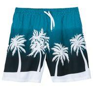 Badeshorts lang Bellonda blau-weiß Palmenprint XXL 001