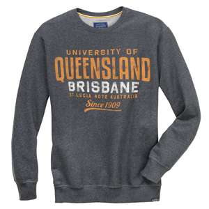 Redfield Sweatshirt grau melange Print Queensland XXL