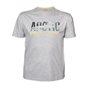North 56°4 XXL T-Shirt hellgrau melange Print Arctic