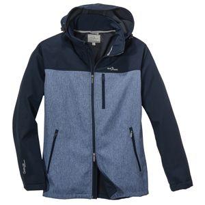 Blue Wave Softshelljacke navy-jeansblau melange XXL