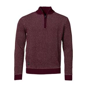 North 56°4 Allsize Strick-Troyer aubergine-weiß XXL