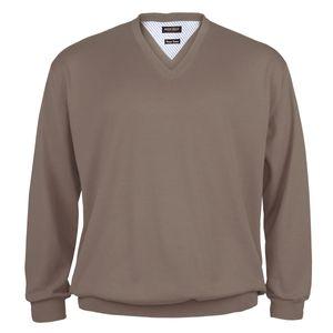 Redfield Feinstrick V-Neck Pullover taupe XXL