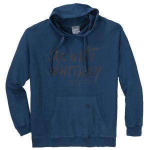 Ahorn Sportswear Hoodie stahlblau Schriftprint XXL