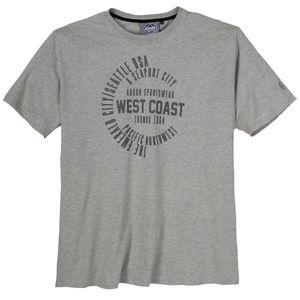 Ahorn Sportswear T-Shirt Druck grau melange XXL