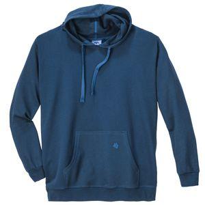 Basic Kapuzen-Sweatshirt Ahorn stahlblau XXL