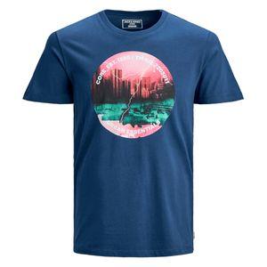 Jack & Jones T-Shirt blau Farbprint XXL