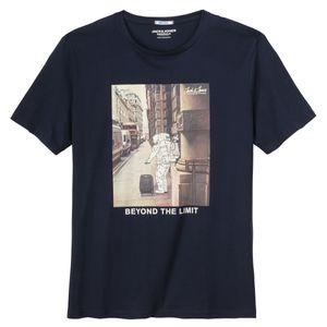 Jack & Jones T-Shirt navy Fotoprint XXL