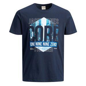 Jack & Jones T-Shirt Logo-Motiv dunkelblau XXL