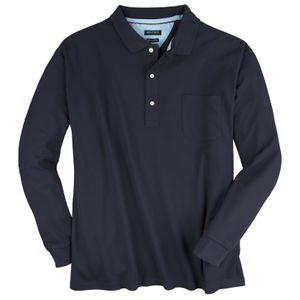 Polo-Langarmshirt Daniel XXL dunkelblau Redfield