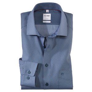 Olymp Langarmhemd bedruckt rot-weiß-blau XXL