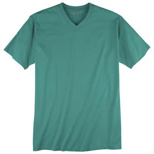Redfield Basic T-Shirt V-Neck jadegrün Übergröße